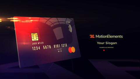 Credit Card Mockup After Effects Template