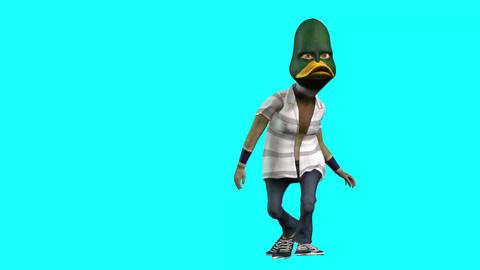 1096 HD CARTOON 3d Duck dancing Animation