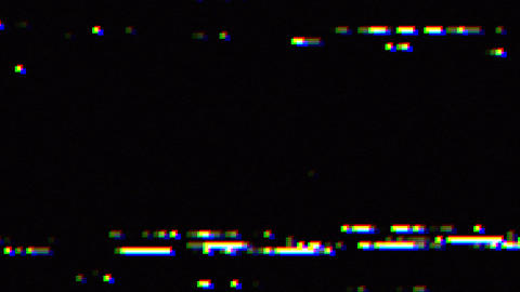 Digital glitch and static television noise effects, visual effect of VHS defects, artifacts and Animation