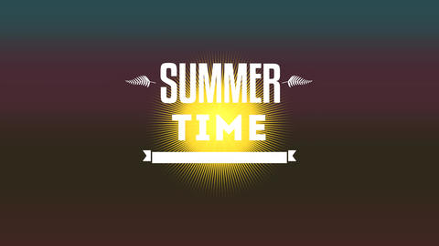 Animated text Summer Time with gradient brown summer background Animation