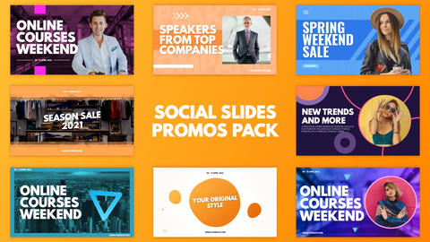 Social Slides Promos Pack After Effects Template