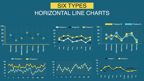 Line Chart Infographic Elements