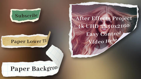 Paper Lower Thirds After Effects Template