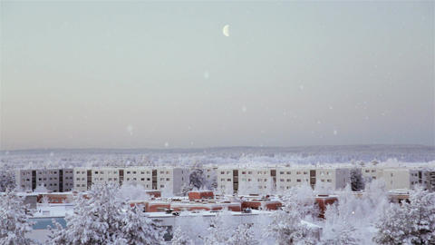 European City During The Winter stock footage