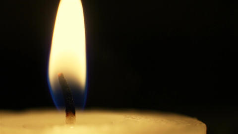 Candle flame, macro shot Stock Video Footage