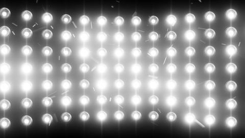 Bright Flood Lights Background With Particles And Glow, White Tint stock footage