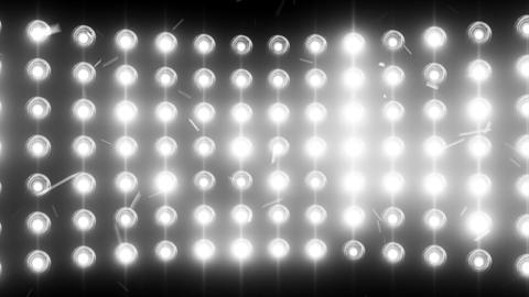 Bright flood lights background with particles and Stock Video Footage