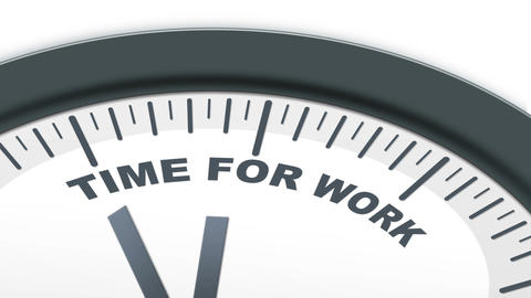 Time for Work ticking clock Stock Video Footage