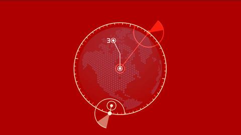 GPS,earth map,city map,military Radar GPS screen... Stock Video Footage