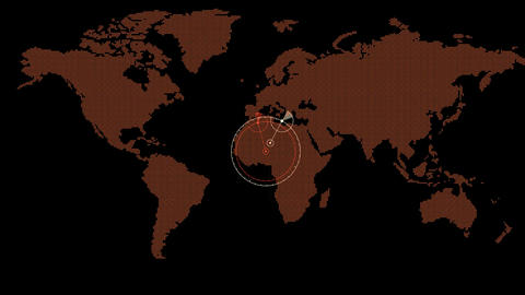 global GPS & search schedule,earth map & military... Stock Video Footage