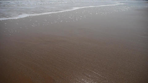 Ocean waves on the golden beach Stock Video Footage