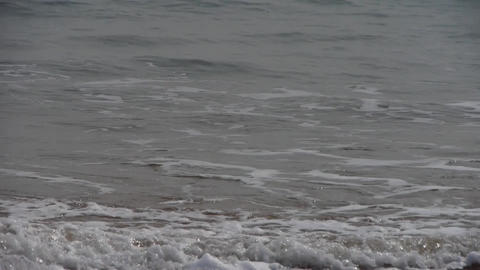 timelapse tidal,Ocean waves on the beach Footage
