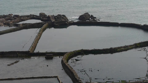 overlook abalone pond in seaside Stock Video Footage