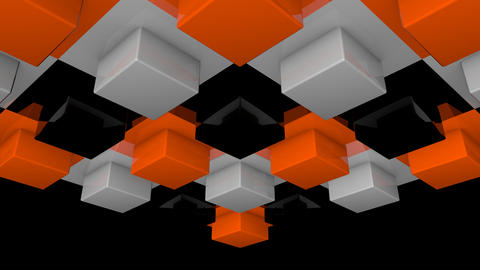 3D box illumination array with alpha Stock Video Footage