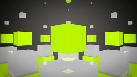 fun green cube Stock Video Footage