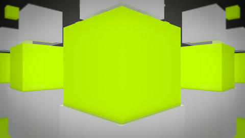 fun green cube Animation