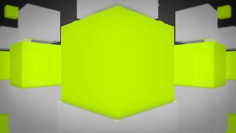 fun green cube Stock Video Footage