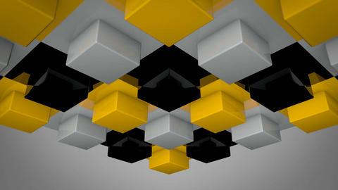 yellow box array Stock Video Footage
