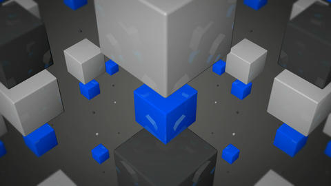 blue box array Stock Video Footage