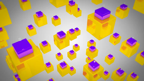 colorful box dance Animation