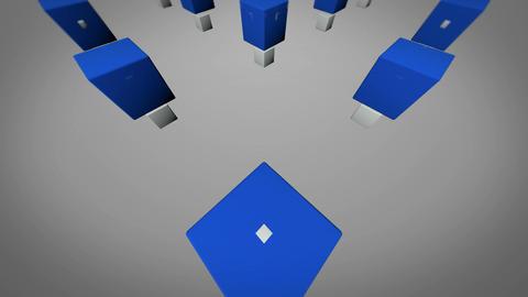 blue limbo box Stock Video Footage