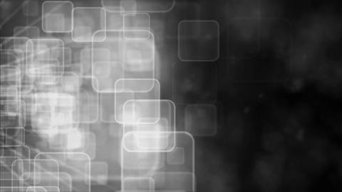 Motion background with animated squares, silver tint Stock Video Footage