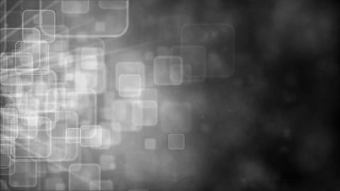 Motion background with animated squares, silver tint Animation