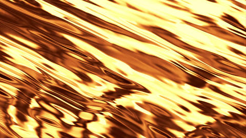 Golden liquid with animated reflections Stock Video Footage