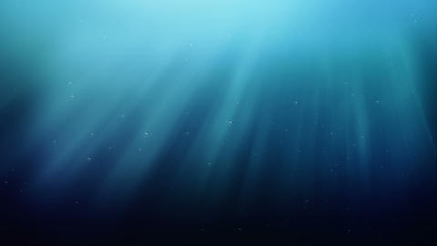 Ocean waves, underwater with light rays Animation