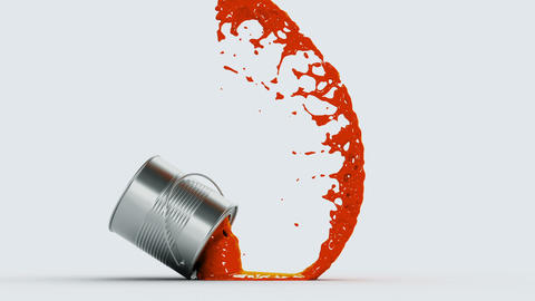 falling paint can Animation