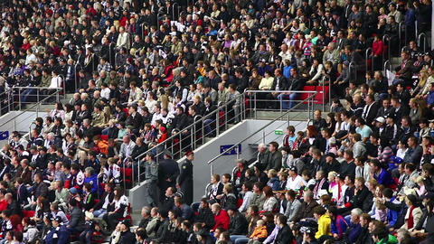 Stadium Crowd stock footage