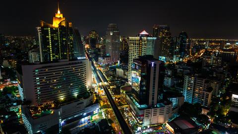 4k - CITY NIGHT SKYLINE TIMELAPSE Stock Video Footage