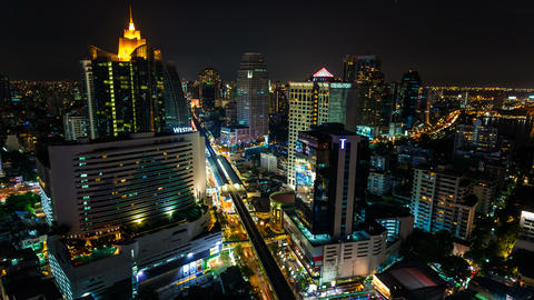 4k - CITY NIGHT SKYLINE TIMELAPSE Footage