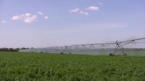 Watering machine Stock Video Footage