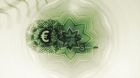 World Currency Symbols Background Loop Stock Video Footage