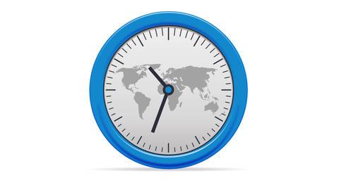 World Clock Stock Video Footage
