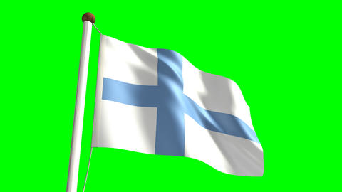Finland flag Stock Video Footage