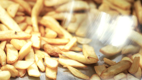 Food shawarma French Fries beef diet chicken dinner... Stock Video Footage