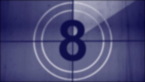 Old film countdown leader With Sound Stock Video Footage