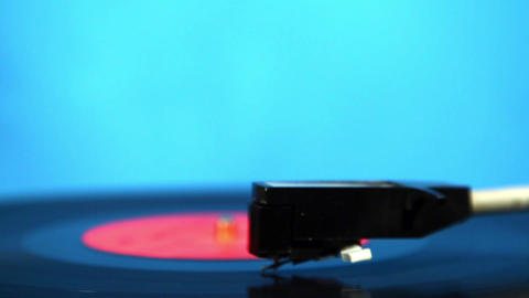 Old vinyl player Stock Video Footage