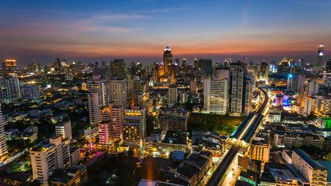 1080 - BANGKOK SUNSET SKYLINE - TIME LAPSE Footage