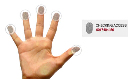 Finger Print Scanner Stock Video Footage