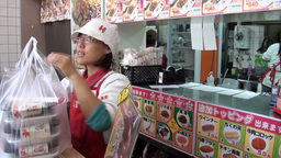 Japanese Fast Food (take Away) Restaurant stock footage