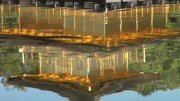 Reflection in the lake of the Golden Pavillion in Stock Video Footage