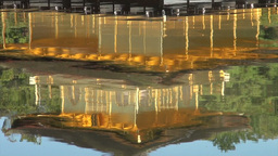 Reflection in the lake of the Golden Pavillion in  Footage