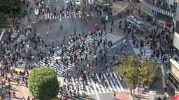 Shibuya crossing, pedestrians, intersection, peopl Stock Video Footage