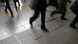 Train passengers in Tokyo, Japan Stock Video Footage