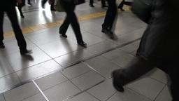 Train passengers in Tokyo, Japan Footage