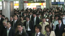 Rush hour at Shinagawa railway station in Tokyo, J Footage