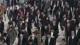 Shinagawa train station inside Stock Video Footage